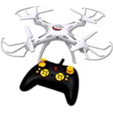 Toyshine 2.4 Ghz Remote Control Drone, 6 CH 6-Axis Quadcopter, One Key Return, Headless Mode, R/C Drone, Max Eagle, White