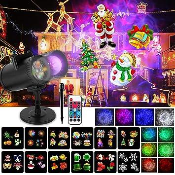 Wilktop Luces Proyector Navidad, Proyección de Olas Oceánicas 12 ...