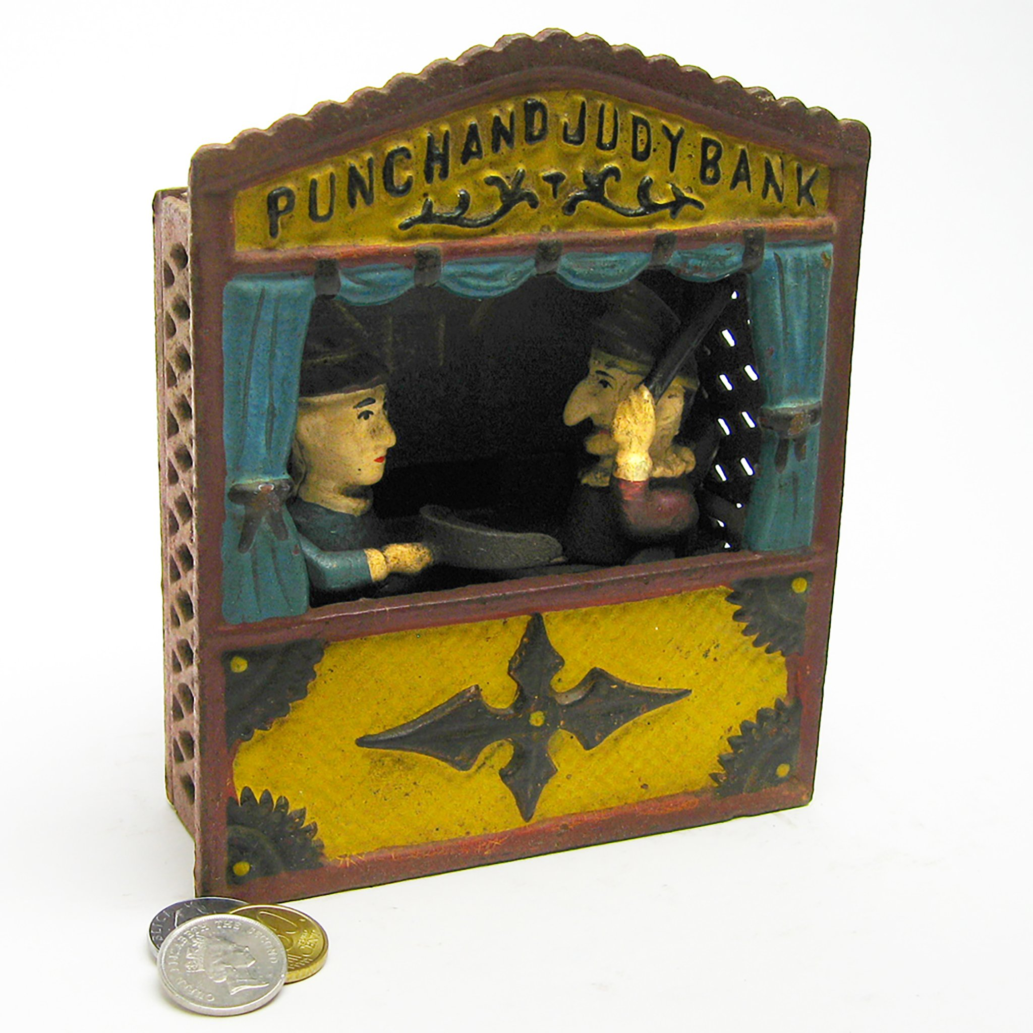 Design Toscano Punch and Judy Theater Collectors' Die Cast Iron Mechanical Coin Bank by Design Toscano (Image #2)