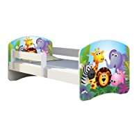 Kinderbett Jugendbett mit einer Schublade und Matratze Weiß ACMA II 140 160 180 40 Design