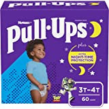 Boys Potty Training Underwear, Easy Open Training Pants 3T-4T, Pull-Ups Night-Time for Toddlers, 60ct, Giga Pack
