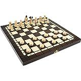 木製チェス+チェッカーセット 35cm×35cm ポーランド製 chess & Checkers setチェス盤チェス駒チェッカー駒セット