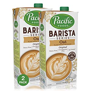 Pacific Foods Barista Series Oat Milk, 32 Ounce (Pack of 2)