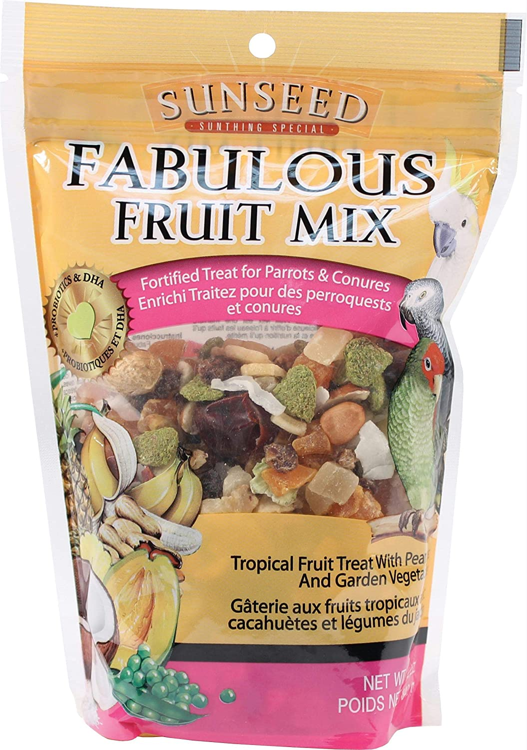 Sunseed Fabulous Fruit Mix for Parrots & Conures