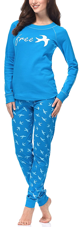 TALLA M. Italian Fashion IF Pijama Camiseta y Pantalones Mujer CL24 0223