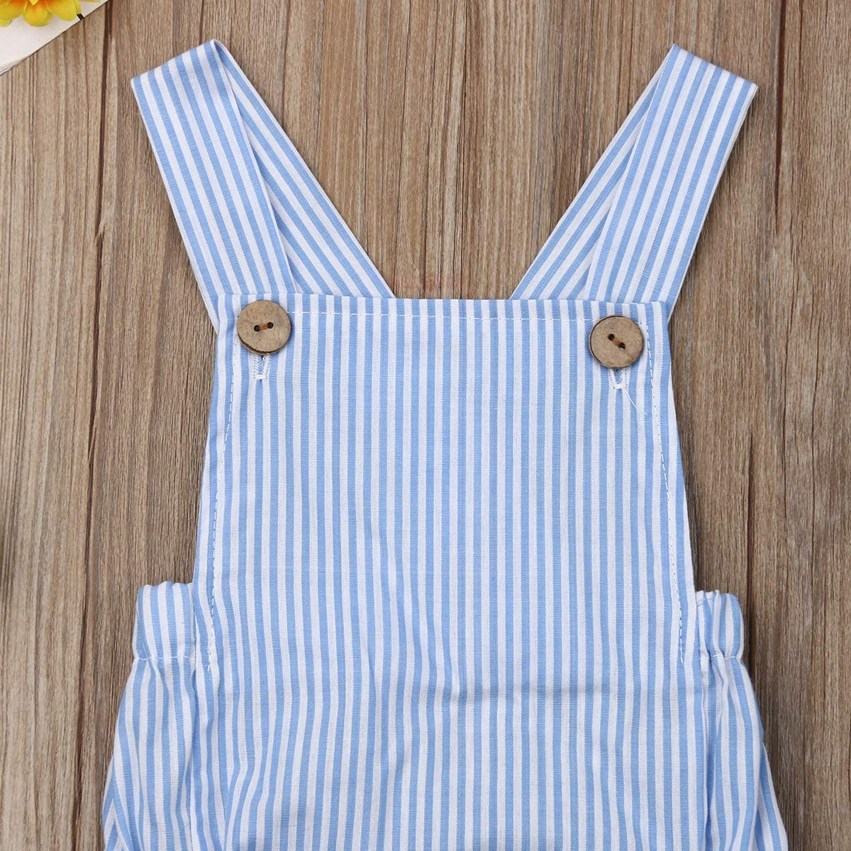 Geagodelia Newborn Infant Twin Baby Girl Clothes Summer Outfit Sleeveless Cotton Romper Striped Bodysuit Jumpsuit