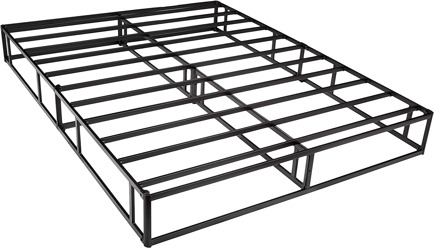 AmazonBasics Mattress Foundation Smart Box Spring for Queen Size Bed, Tool-Free Easy Assembly – 9-Inch, Queen