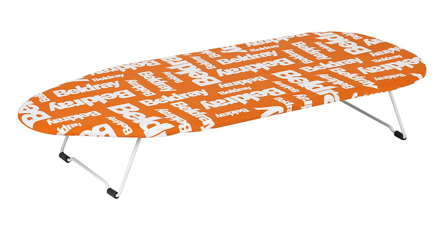 Beldray LA023735C White and Orange 76 x 33cm Table Top Portable Ironing Board