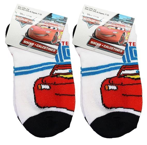 Disney Pixars Cars Lightning McQueen Black/White Socks (2 Pairs, ...