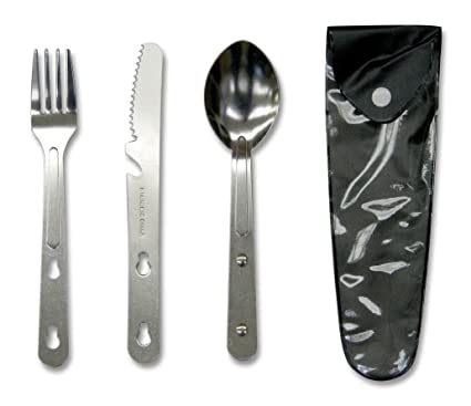 Amazon.com: Stansport Camping cuchillo, cuchara y tenedor ...
