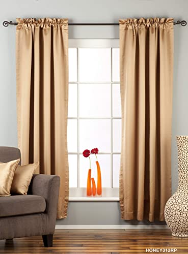 Indian Selections Taupe Rod Pocket 90 Blackout Curtain/Drape/Panel