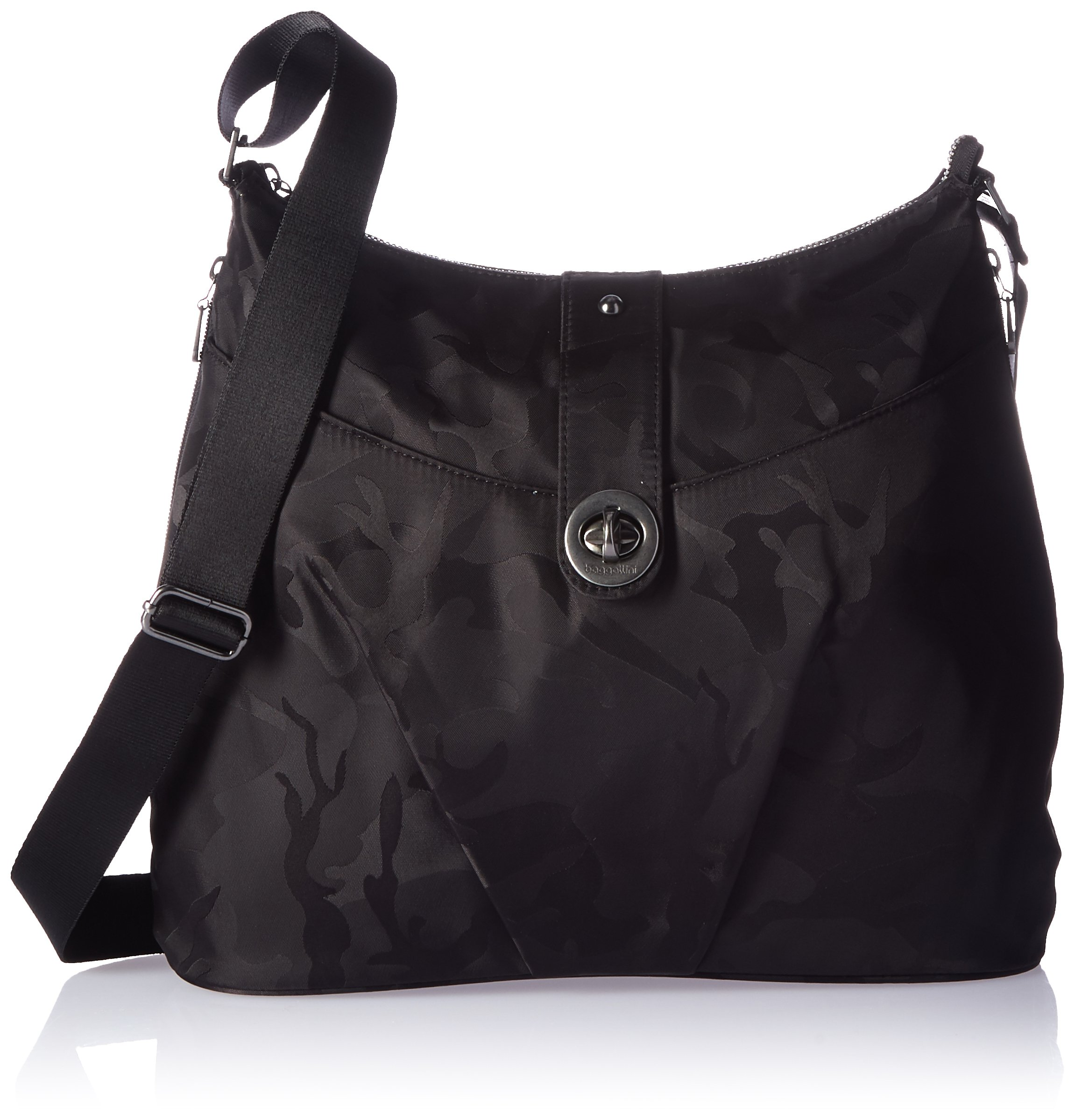 Baggallini HEL868 Women's Helsinki Shoulder Bag, Black Camo