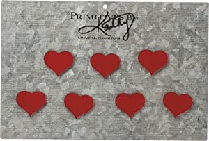 Red Heart Magnet Set Primitives by Kathy