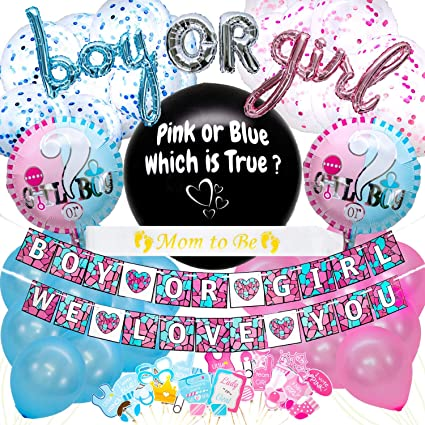 Personalized Set of 50100150200 Baby Shower Gender Reveal Ties or Tutus  1 Inch Confetti Circles