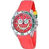 Spinnaker - SP-5021-06 - Amalfi - Montre Homme - Quartz Chronographe - Cadran Rouge - Bracelet Silicone Rouge