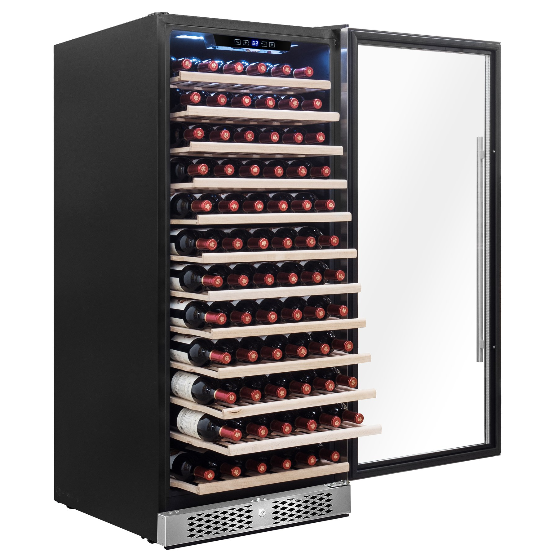 AKDY 127 Bottles Capacity Single Zone Touch Control Freestanding Wine Cooler Cellar
