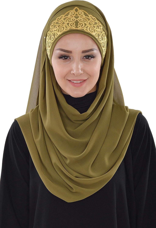 Shawl for Women Chiffon Modesty Turban Cap Hat Head Wrap Instant Scarf