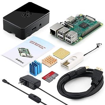 ABOX Raspberry Pi 3 B+ - Kit de iniciación Completo con Placa Base ...