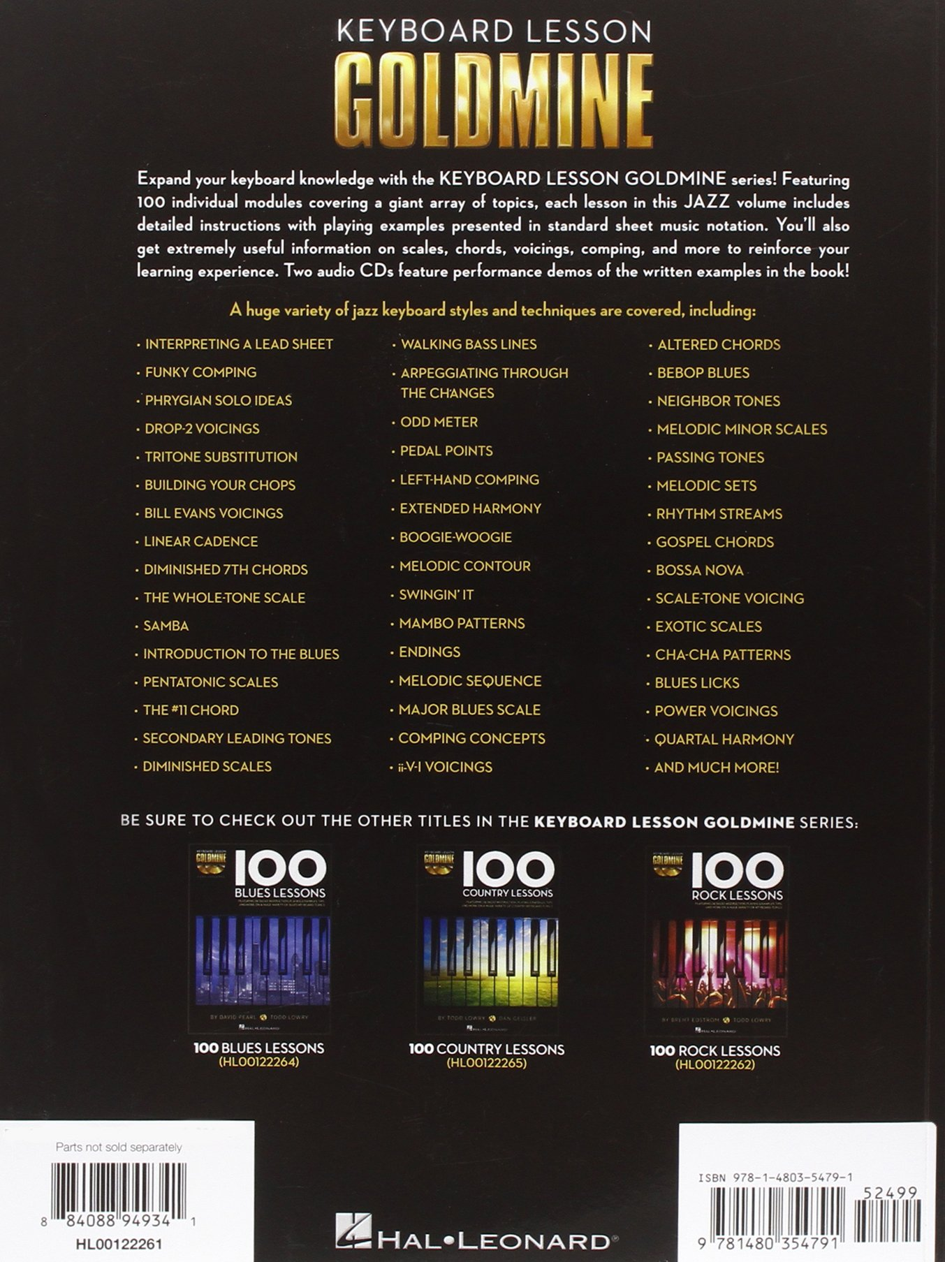 100 Jazz Lessons: Keyboard Lesson Goldmine Series Book/2-CD Pack: Brent  Edstrom, Peter Deneff: 0884088949341: Amazon.com: Books