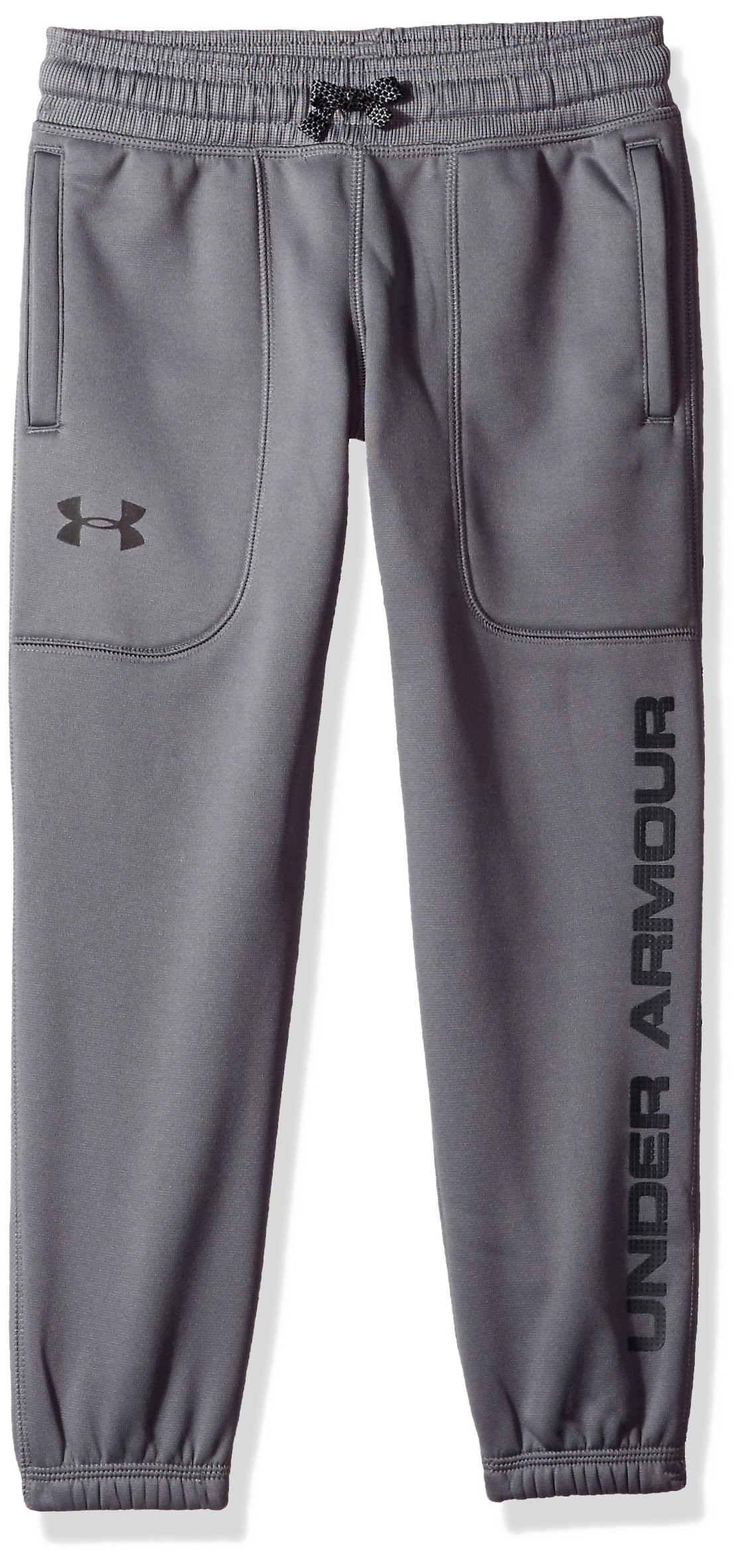Under Armour Boys Fleece Jogger,Graphite /Black, Youth Large by Under Armour