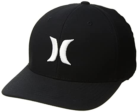separation shoes 59672 03a19 Hurley Men s Dri-Fit One   Only Flexfit Baseball Cap, Black White, ...