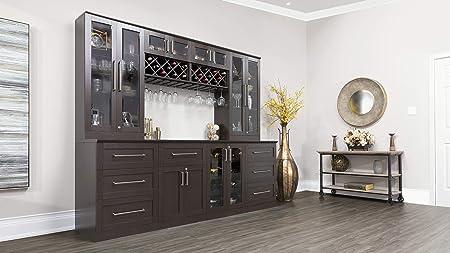 Amazon Com Newage Products Home Bar Espresso 6 Piece Cabinet Set