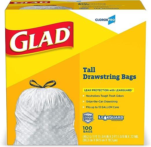 Amazon.com: Glad Tall 78374 - Bolsas de basura con cordón ...