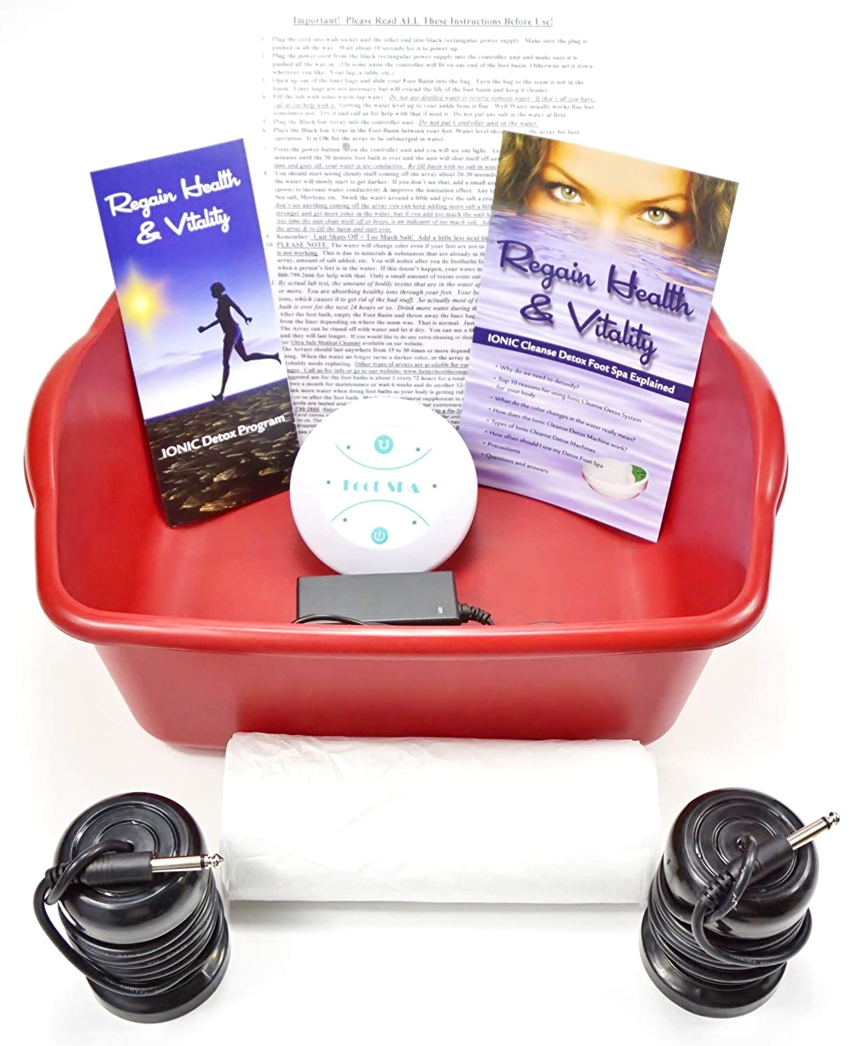 Ionic cleanse Detox Ionic Foot Bath Spa Chi Cleanse Unit for Home Use. Foot Spa Affordable Detox Foot Spa Machine with Free Booklet and Brochure, Regain Health & Vitality Better Health Company
