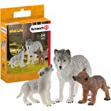 Schleich Mother Wolf with pups Playset