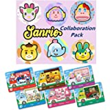 for Animal Crossing New Horizons Amiibo Card Sanrio Collaboration Pack, 6 pcs ACNH Villager NFC Card. Compatible with…