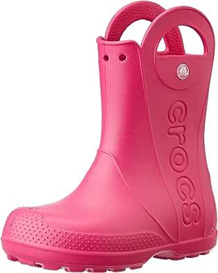Crocs Handle It Rain Boot, Botas de Agua Unisex Niños, Rojo (Flame), 25/26 EU