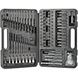 Conjunto de brocas e chaves de fenda pretas + Decker, 109 peças (BDA91109)