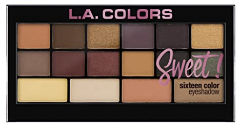 L.A. Colors Sweet  16 Color Eyeshadow Palette, Seductive, 20g Eyeshadow at amazon