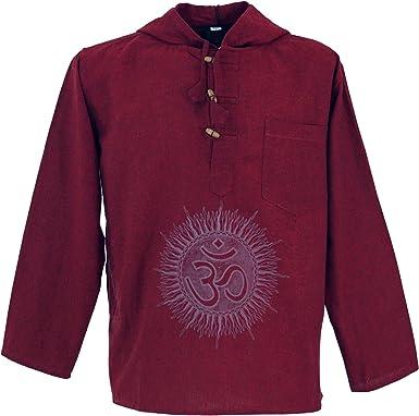 Guru-Shop Yoga Camisa, Goa Camisa Om, Sudadera, Hombre, Algodón ...
