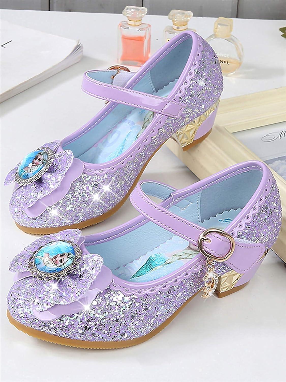 61037b8611a5ac FStory  Winyee M ädchen Prinzessin Sandalen mit Absatz Kinder ELSA Schuhe  Partei Glitzer Kristall