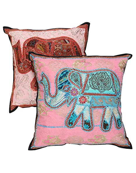Living room Pillow Cover Home Décor Set of 2 throw pillow Pink ...