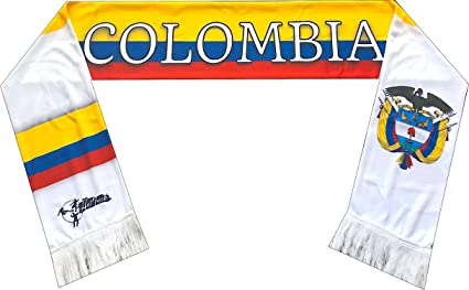 152cebe429986 Amazon.com   Perfect Hat Trick Official Colombia Flag Scarf - Los ...