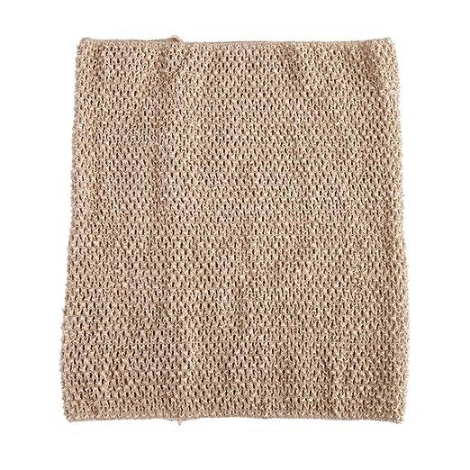 baa26d58a88 Tan Crochet Tutu Top Adult Size 14 Inches X 16 Inches Crochet Tube ...