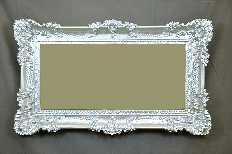 Idea Casa Spiegel Spiegel groß Silber Bilderrahmen Barock Fake Vintage cm 96 x 56