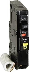 Square D by Schneider Electric QO120GFICP QO Qwik-Gard 20 Amp Single-Pole GFCI Circuit Breaker