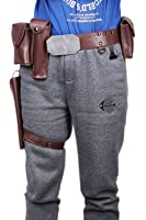 xcoser Luke Belt Obi-Wan Belt Adjustable PU Holster Cosplay Costume accessories