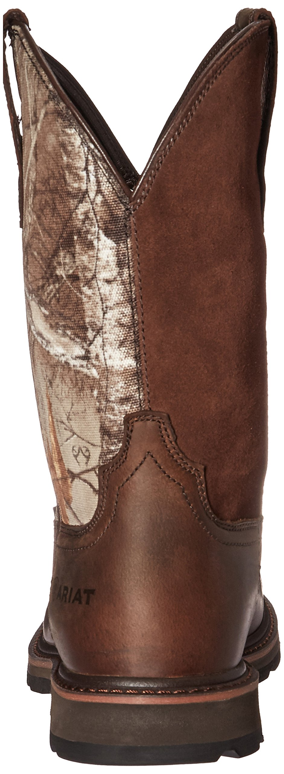 Ariat Work Men's Groundbreaker Pull-On Steel Toe Work Boot, Brown/Real Tree Extra, 7 D US by Ariat (Image #2)