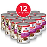 Hills Science Diet Adult Savory Stew with Beef & Vegetables Canned Dog Food, 363g, 12 Pack