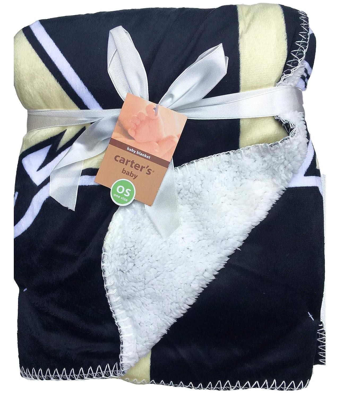 Bruins Boston 35 x 50 Hockey Theme Baby Blankets For Boys Hockey Baby Blanket with Sherpa