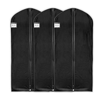 """hangermaster vestido/abrigo fundas 137 cm (54 """") negro transpirable funda protectora"""
