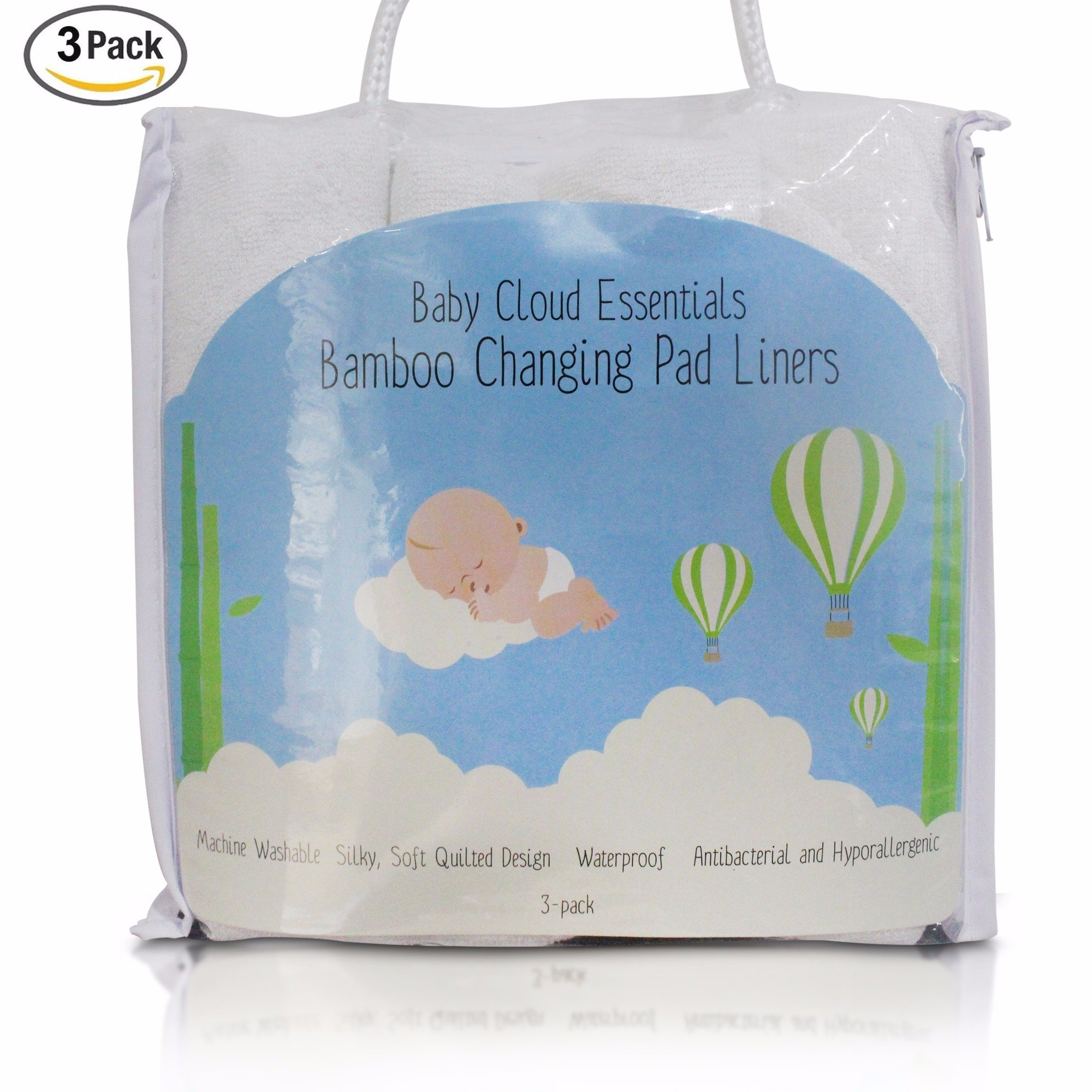 Final Inventory, 1/2 Price, Baby Changing Pad Liners, 4-Layered Soft Bamboo Fabric, Hypoallergenic And Antibacterial, Non-Slip And Absorbent Waterproof Mat, Machine Washable, With Storing Bag