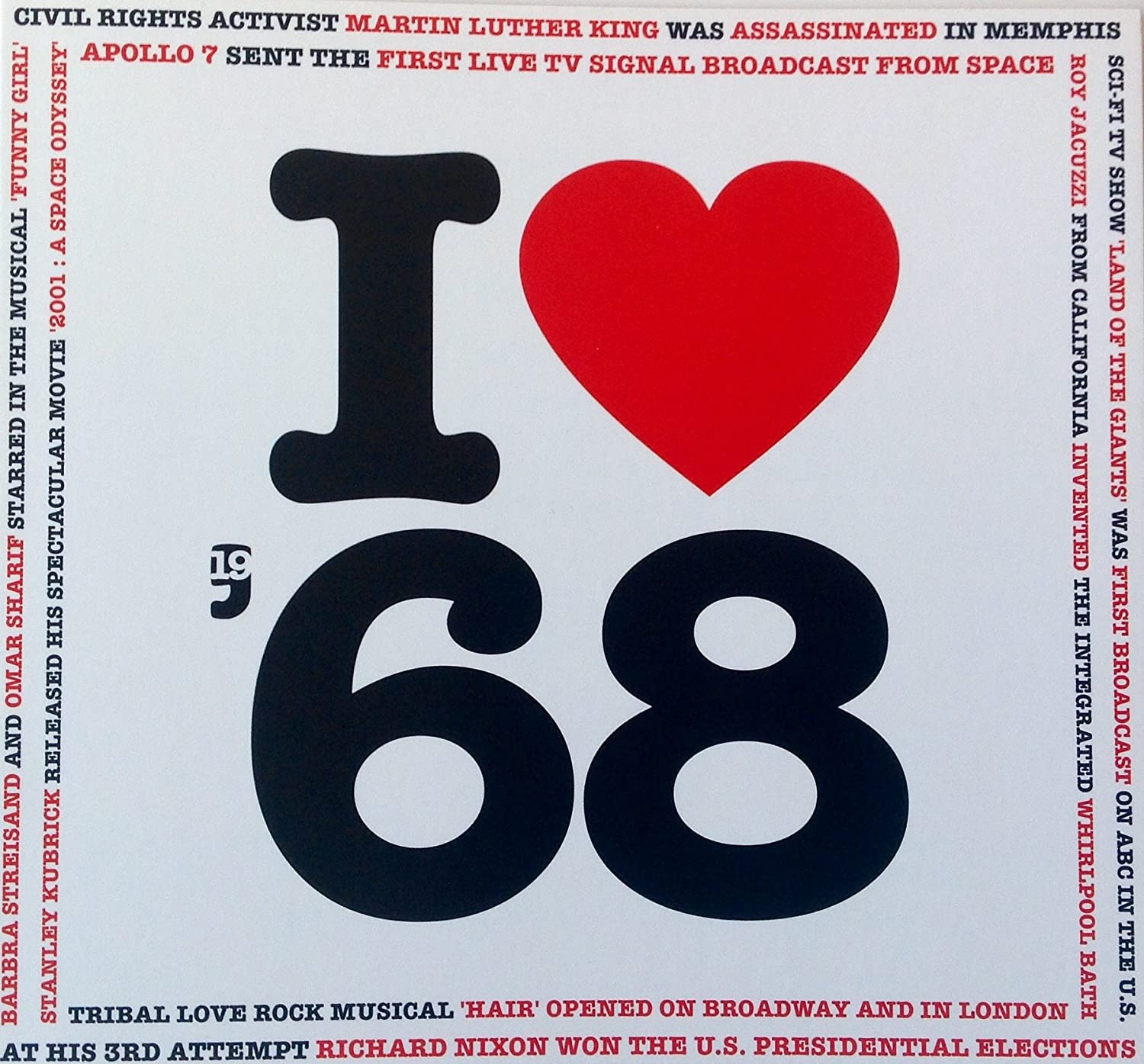1968 Birthday Gift - 1968 I Heart CD and Greeting Card: Compilación ...