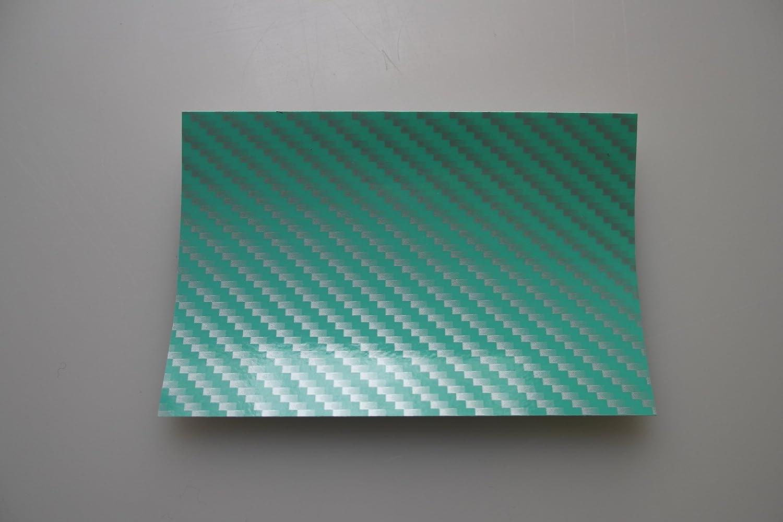 Autofolie 2D Carbon Weiss Folie 500 x 152 cm blasenfrei mit Anleitung 6,32/€//m2 K/önighaus