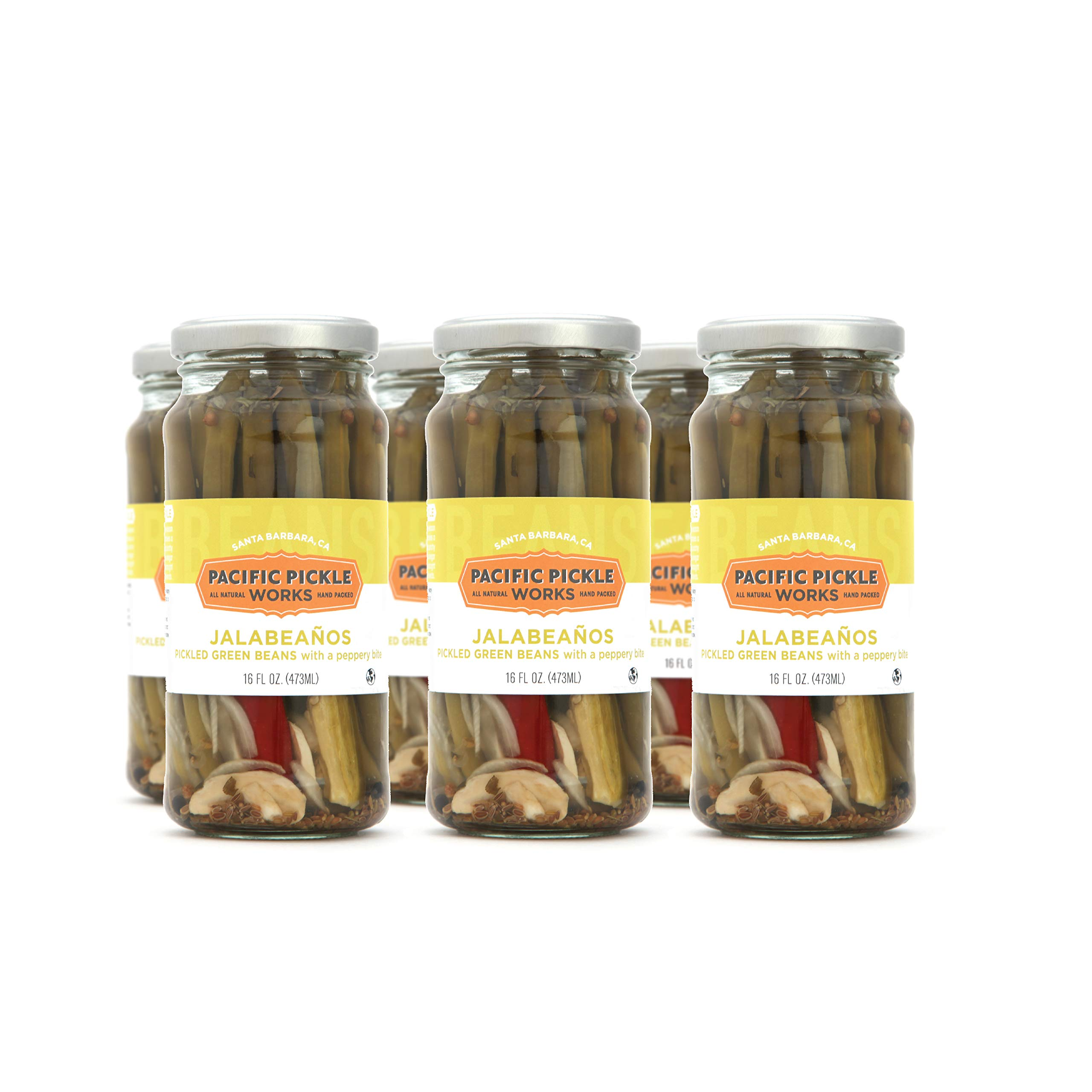 Jalabeaños (6-pack) - Spicy pickled green beans 16oz by Pacific Pickle Works (Image #1)