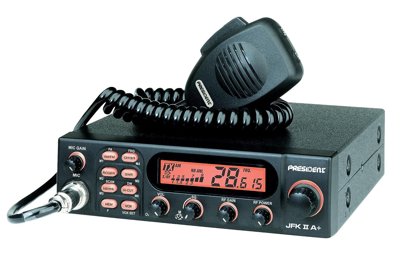 President JFK II A 10 Meter Amateur Radio AM FM Transceiver JFKIIA+